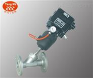 調節型氣動法蘭角座閥,帶定位器氣動角座閥