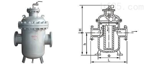 上海潘溪阀门制造有限公司 XG导阀式消气过滤器 产品特性:锻钢过滤器,过滤器,管道过滤器,XG油气分离器 产品简介:采用引导阀大浮球导阀式结构,顶部排气,排气能力强,工作可靠。合理的内部结构与特定的介质流向以及大容积使油气分离的能力成倍提高。 XG消气过滤器、XG油气分离器: 消气过滤器是流量计的附属设备之一,它将介质的过滤与消气功能合为一体,不仅可以滤掉流体中的固体杂质,又能减少或消除流体中的气体,提高系统计量精度、延长计量设备的使用寿命。安装方便,使用简单,广泛应用于液体介质的精确计量系统。 XG消