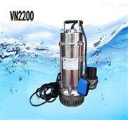 3寸管徑不銹鋼潛水泵 304/316材質VN2200F浮球自動型手提式2.2KW單相220V污水泵