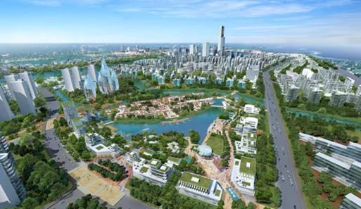 世界最大预制泵站落户中新天津生态城高清图片